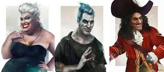 villanos de disney, personajes de disney dibujados de forma artistica, disney al oleo, como dibujar personajes disney de forma artistica