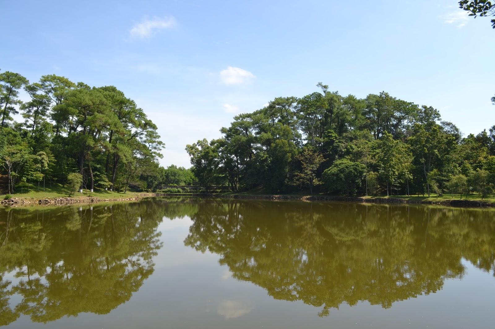 Beautiful lake at  Tomb Of Minh Mang , hue