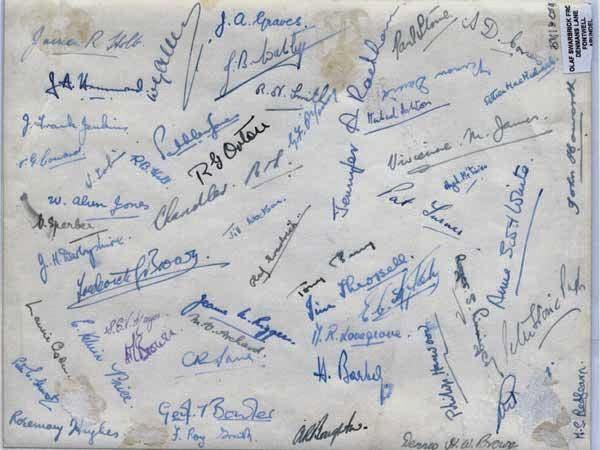 Cutting signature