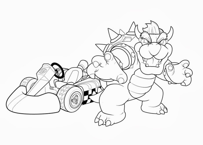 mario kart coloring pages free - photo#5
