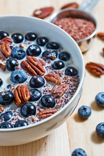 Quinoa Porridge with Blueberries and Pecans on Closet Cooking