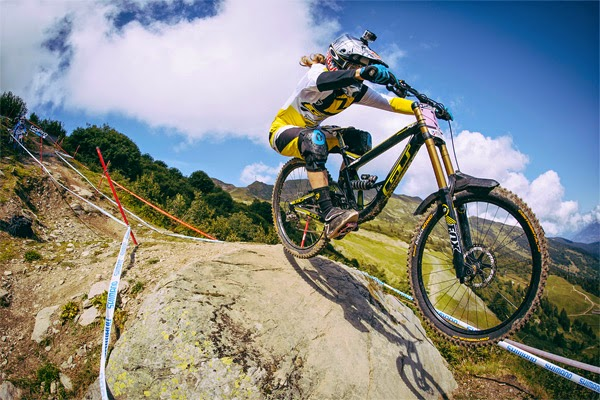 2014 Meribel UCI World Cup Downhill: Practice - Rachel Atherton