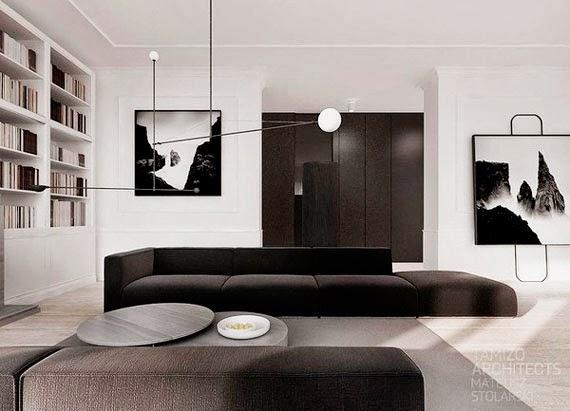 preto branco e cimento queimado - cores neutras em casa