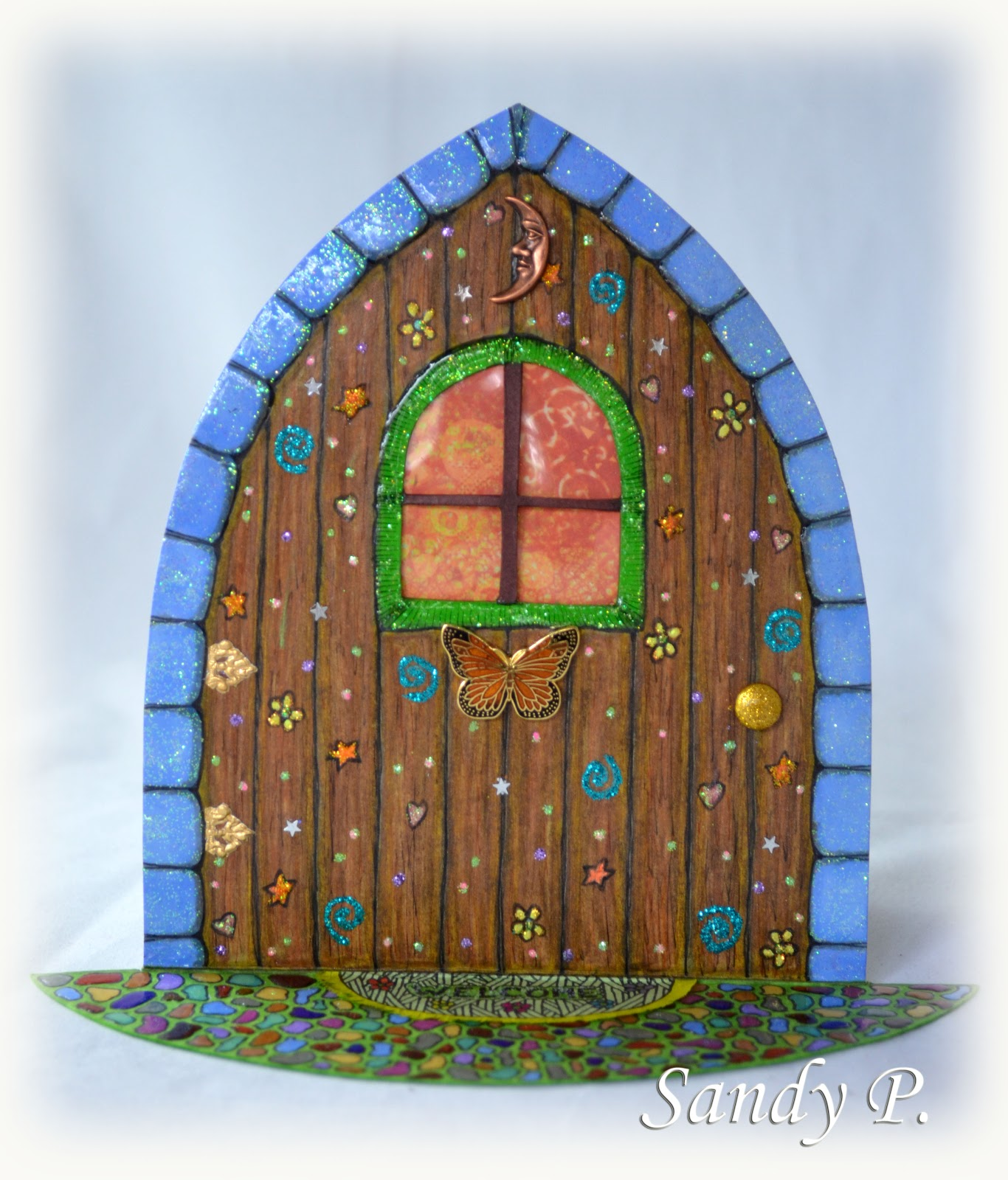 Glitter tart designs fairy doors sandy p art share for Original fairy door