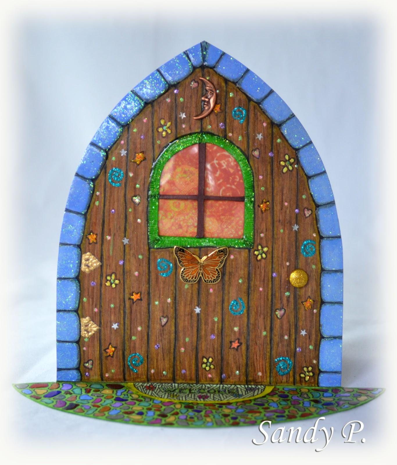 Glitter tart designs fairy doors sandy p art share for Fairy door pattern