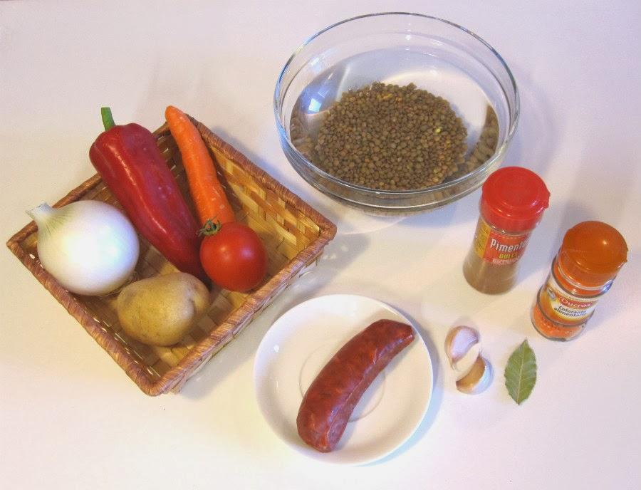 Ingredientes lentejas