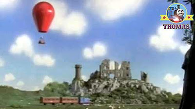 James the red tank engine air balloon Thomas the train and friends tank engine Emily's new coaches
