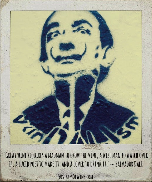 Salvador Dali Wine Quote