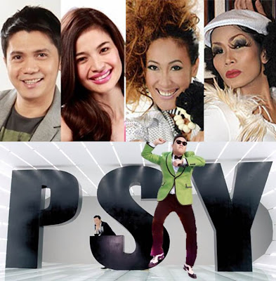 Anne, Vhong, Ai Ai and Pokwang Guests in Psy Gangnam Style Concert in Manila