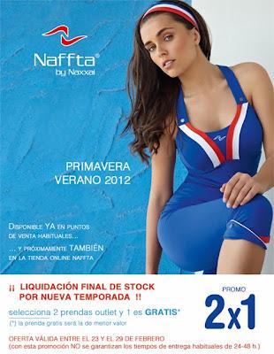 2x1 en el Outlet de la tienda web de Naffta