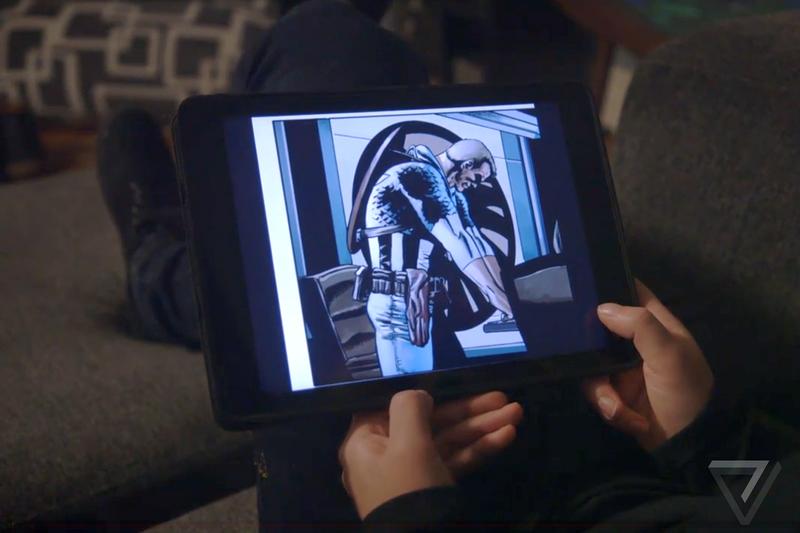 Lendo quadrinhos no iPad com som