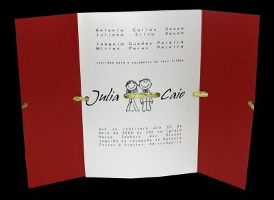 Fotos de Convites de Casamento Vermelhos