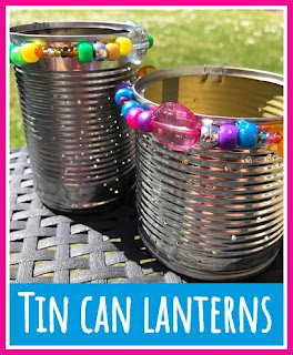 Repurposed Tin Can Lanterns的教程
