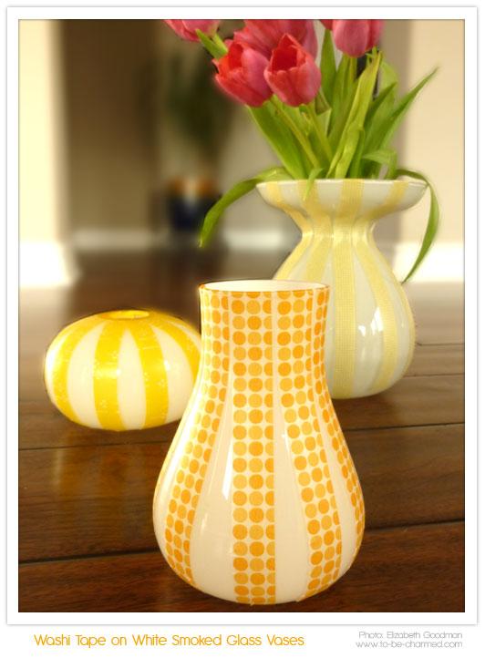 Washitapera tres ideas para decorar jarrones con washi tape - Ideas para decorar con washi tape ...