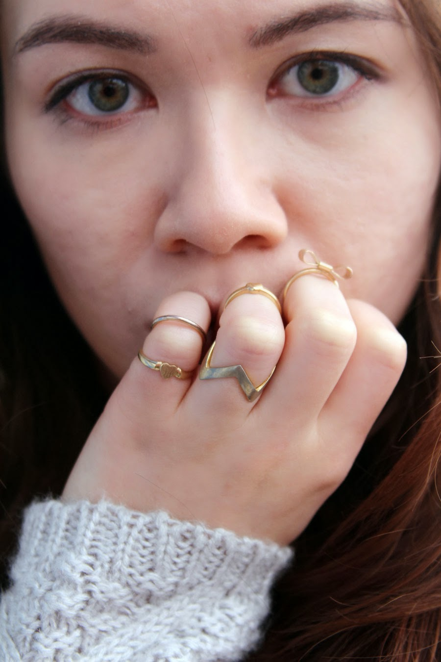 rings, Knits and Denim, sweater, H&M, Joe's Jeans, Steve Madden