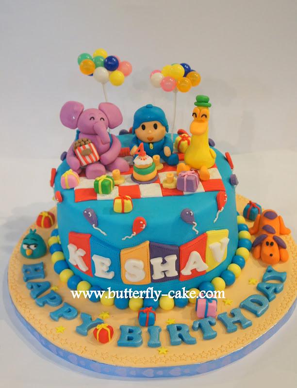 Butterfly Cake Pocoyo Cake