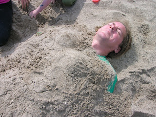 Buried on the beach
