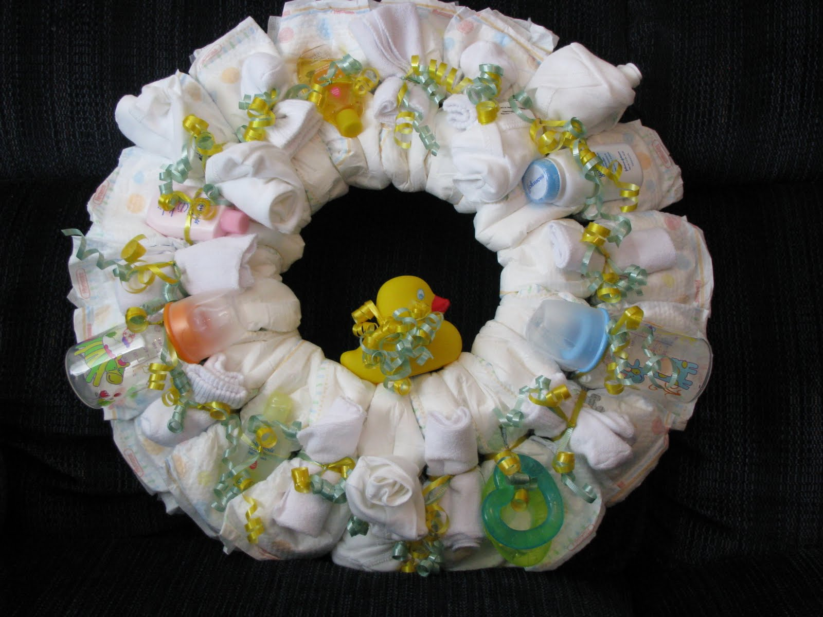 diaper wreaths and more diaper wreaths