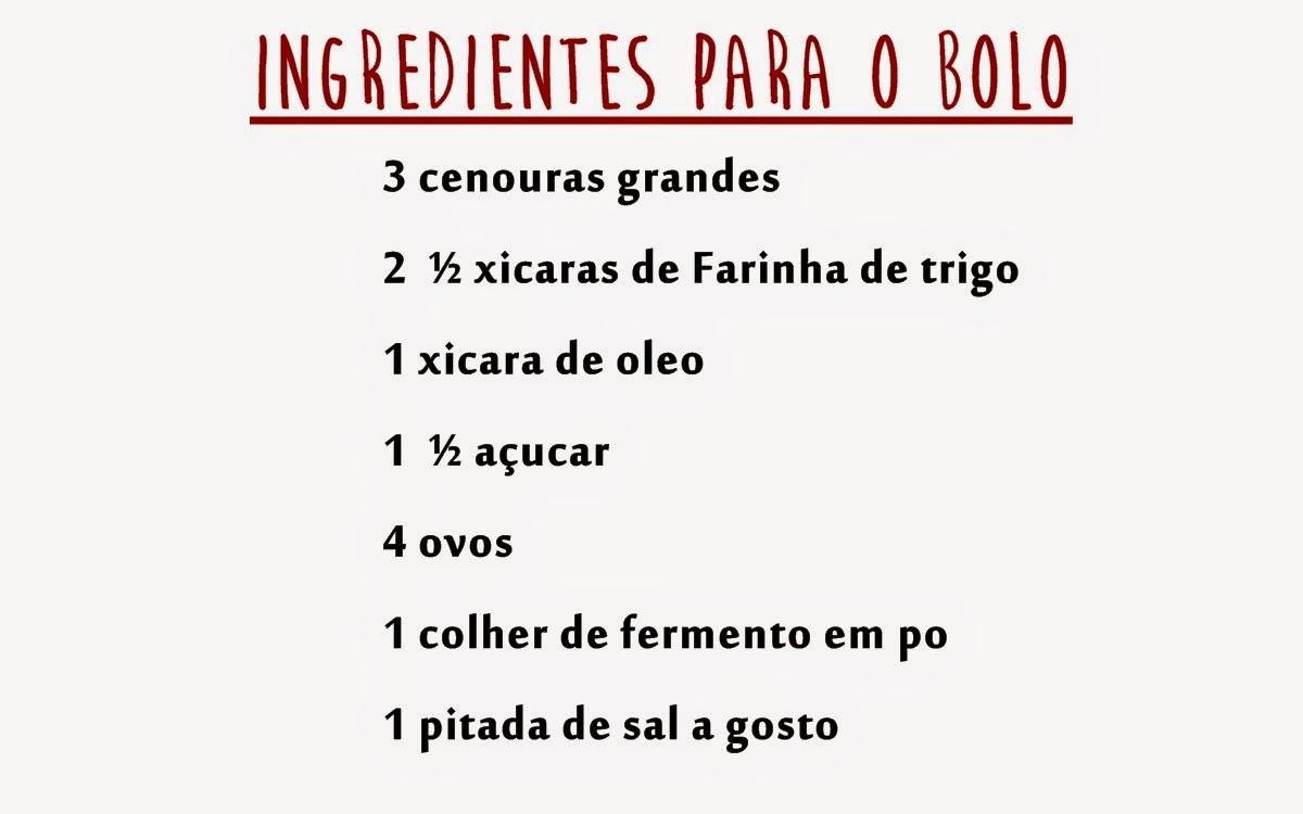 Receita: Bolo de Cenoura com calda de chocolate