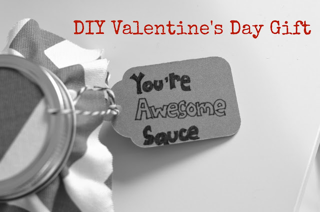 DIY Valentine's Day Gift for Kids- BBQ Sauce | all dressed up with nothing to drink...