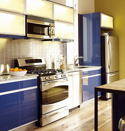 Various shapes for renovated kitchen interior design for One wall kitchen ideas
