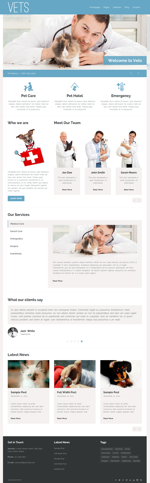 Medical health Clinic WPTheme