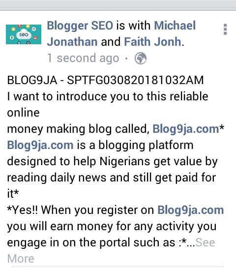 share sponsored posts on Blog9ja