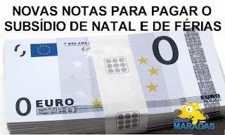 Subsídios cortados euros zero