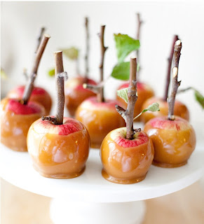 Caramel apple lollipop