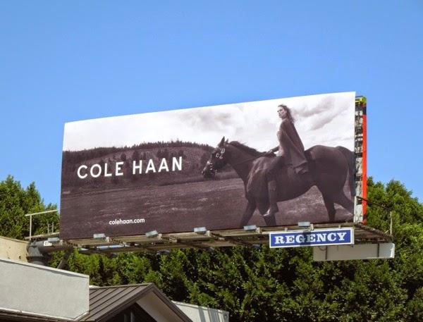 Cole Haan horse FW 2014 billboard