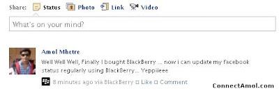 facebook update your status