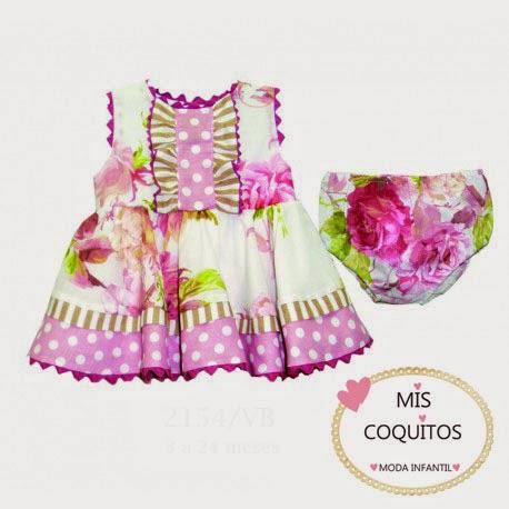 Vestido y braguita de flores coleccion dolce petit verano