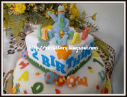 Dibo and ABC Theme Cake