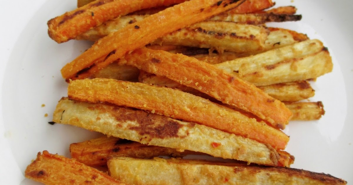 Vanilla & Spice: Hummus Coated Carrot and Parsnip Fries