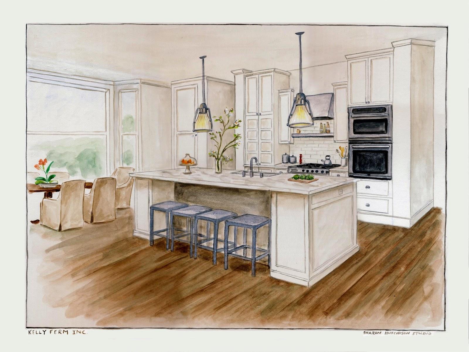 Sharon hutchison studio painter 39 s journal for Kitchen design drawing