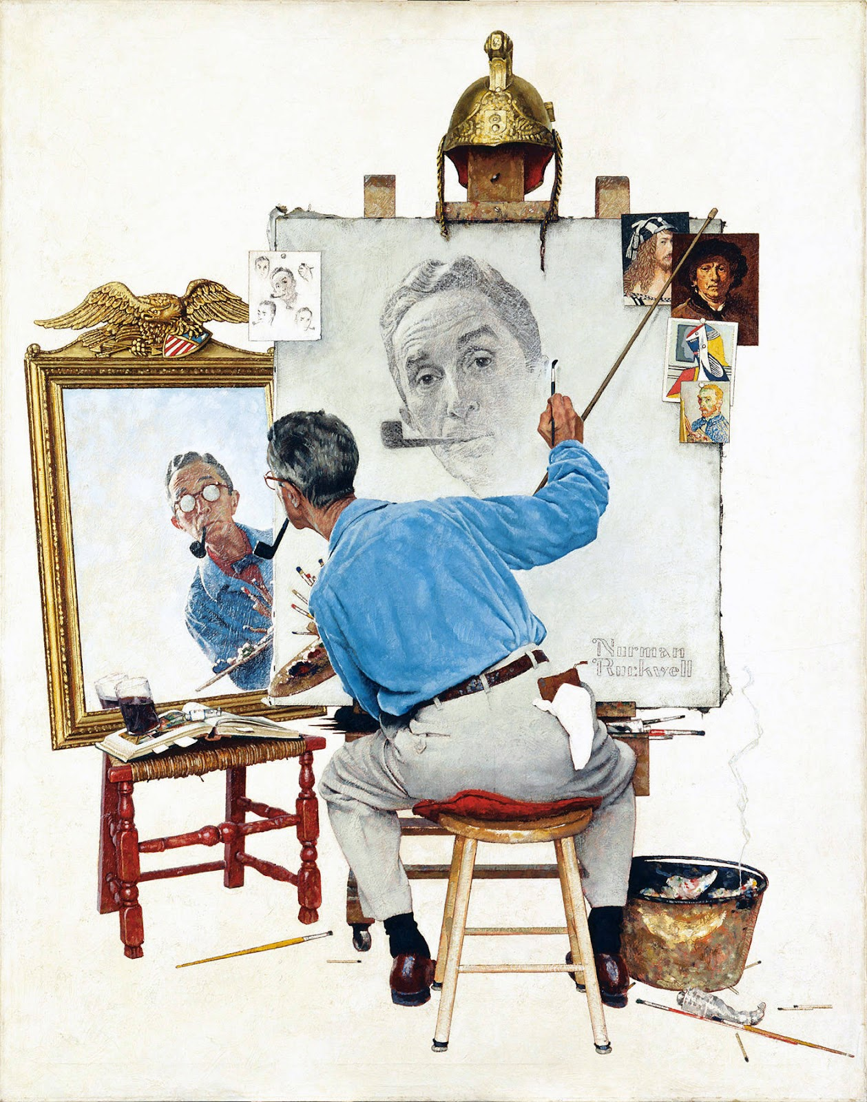 Triple Autoportrait. 1960