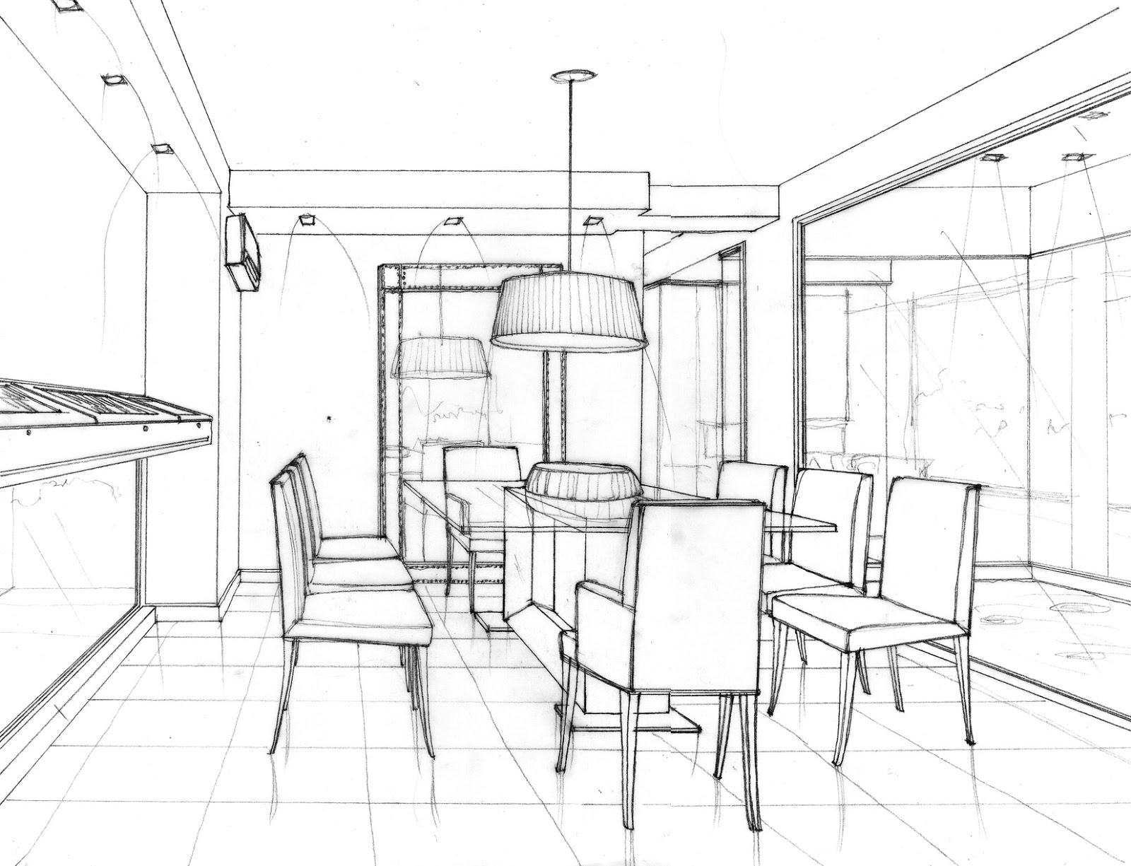 Espacios inventados ideas dibujadas for Comedor para dibujar