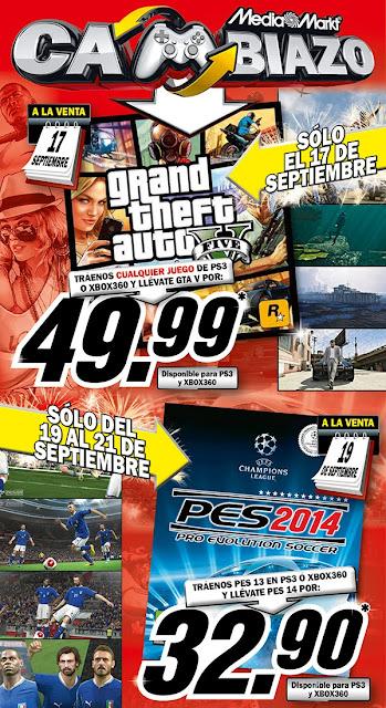 Consigue solo hoy el juego Grand Theft Auto V por solo 50€ entregando cualquier juego.