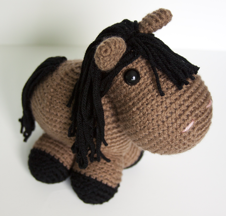 Amigurumi Horse Head : Show and Tell Meg: Crochet Update: Meet Quincy the Giddy ...
