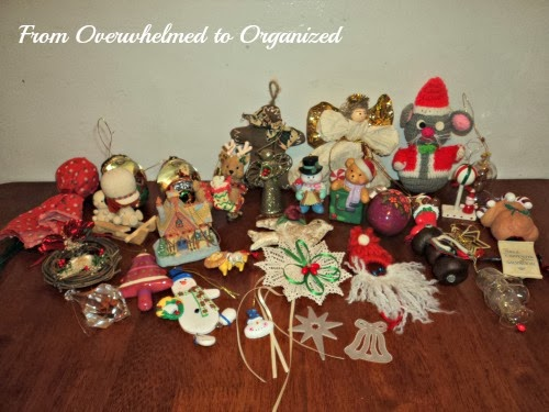 we have a lot of ornaments for our tree we usually give our kids a new ornament each year they often make ornaments at school church or just for fun - How To Organize Christmas Decorations