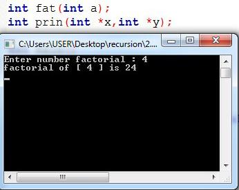 ข้อ 0.1 เตรียมสอบ จงเขียนโปรแกรม factorial แบบโดยนำคำตอบมาปริ้นที่ function และใช้ pointer