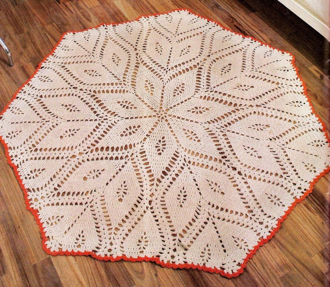 toalha em petalas de croche em croche com receita