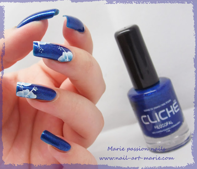 nail art one stroke double accent nail3