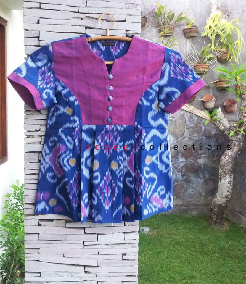 CV Tenun Indonesia kain tenun ikat batik biru novee