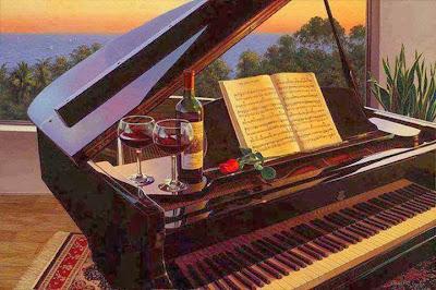 piano vino y rosas