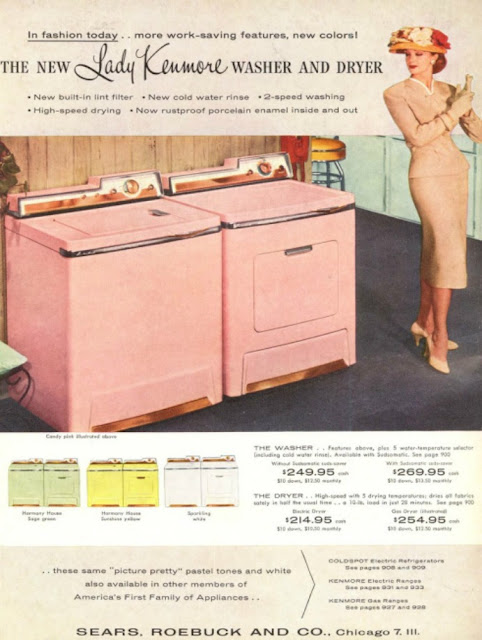 Sears pink washer dryer retro vintage 50s just peachy,darling