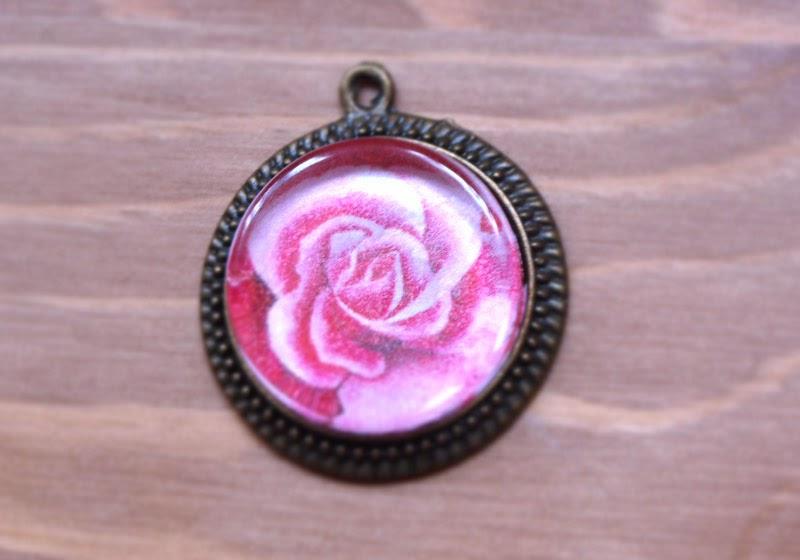 colgante vintage rosa regalo madre
