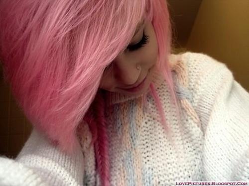emo girl hairstyle fashion cute