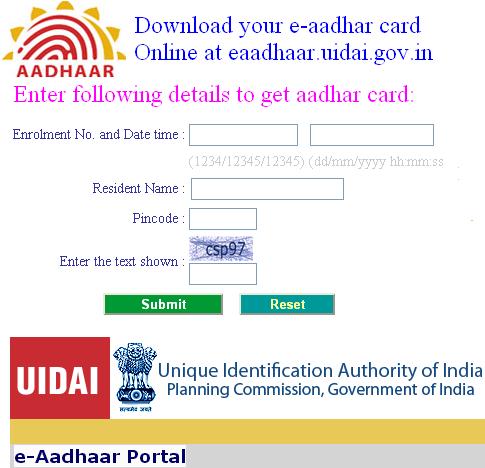 Download E-Aadhaar