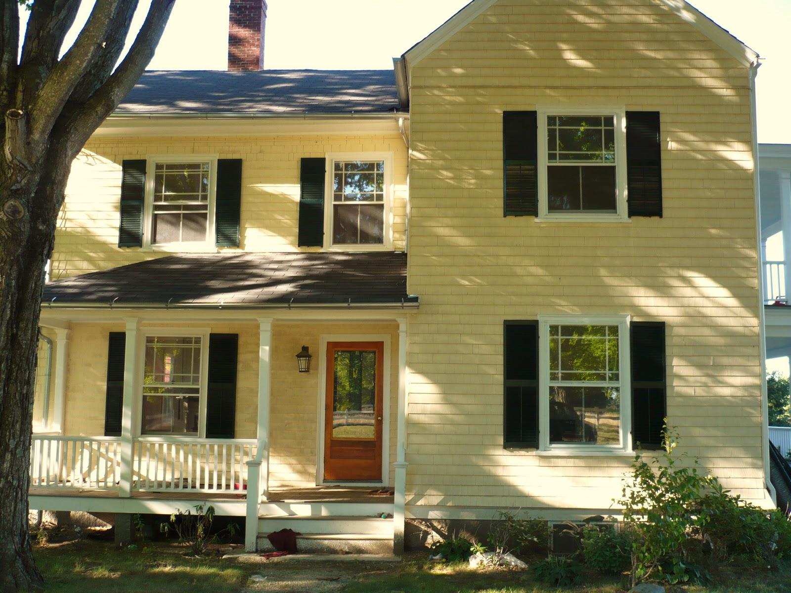 Home exterior ideas on pinterest black shutters decks for Cobblestone shutters